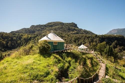 Yurts on Fundo Panguilemu