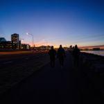 Walking into Reykjavik