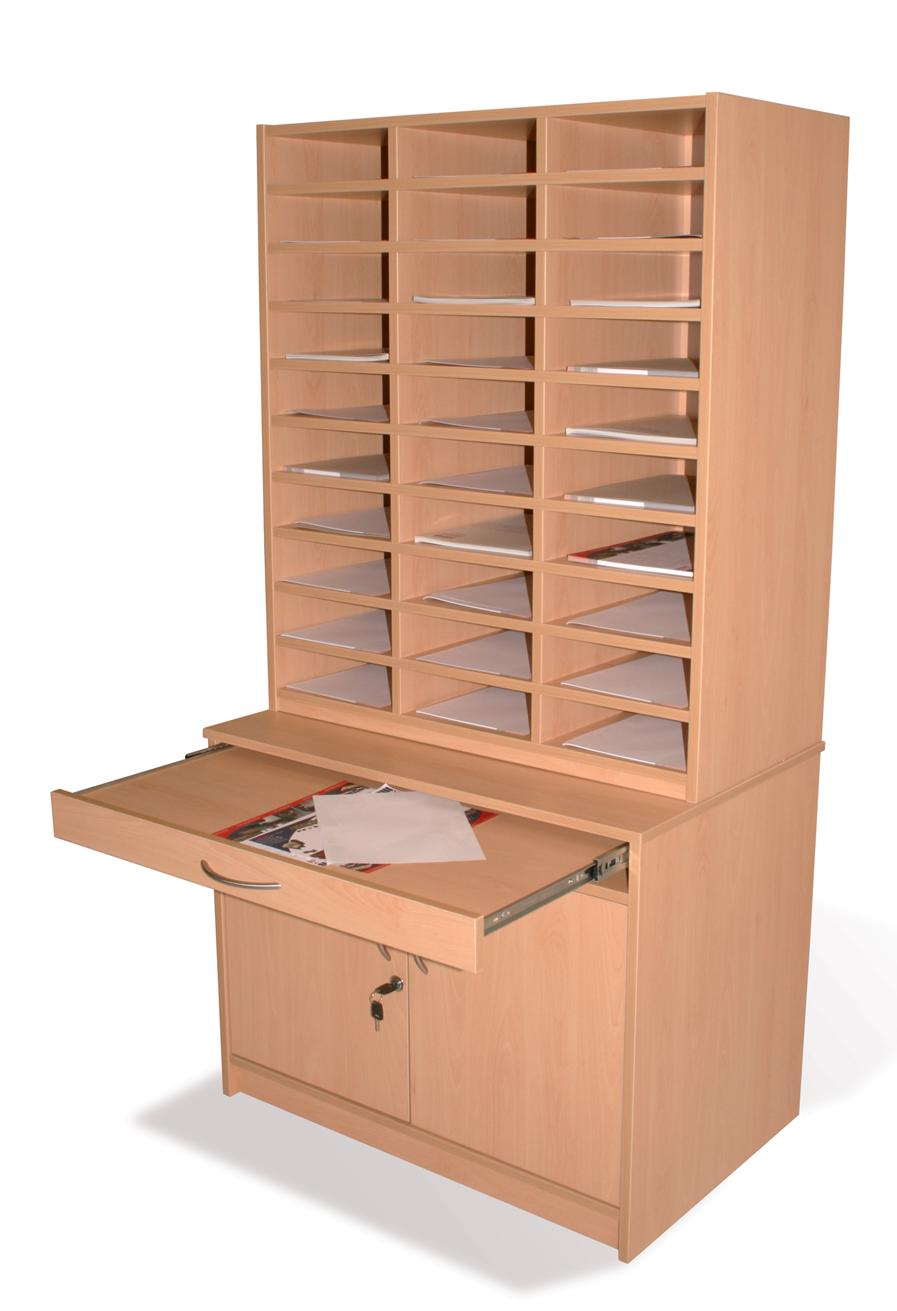 Pigeon Hole Unit with Storage Press  Compass School Furniture