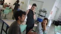 Samy Kamkar, Meg Grant & Syuzi Pakchyan in conversation at Extreme Wearables Designathon 2014 at Art Center, Media Design Program, Wind Tunnel