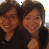 photo of Vivia & Sharon smiling after the Extreme Wearables Designathon presentation for Compass H2O