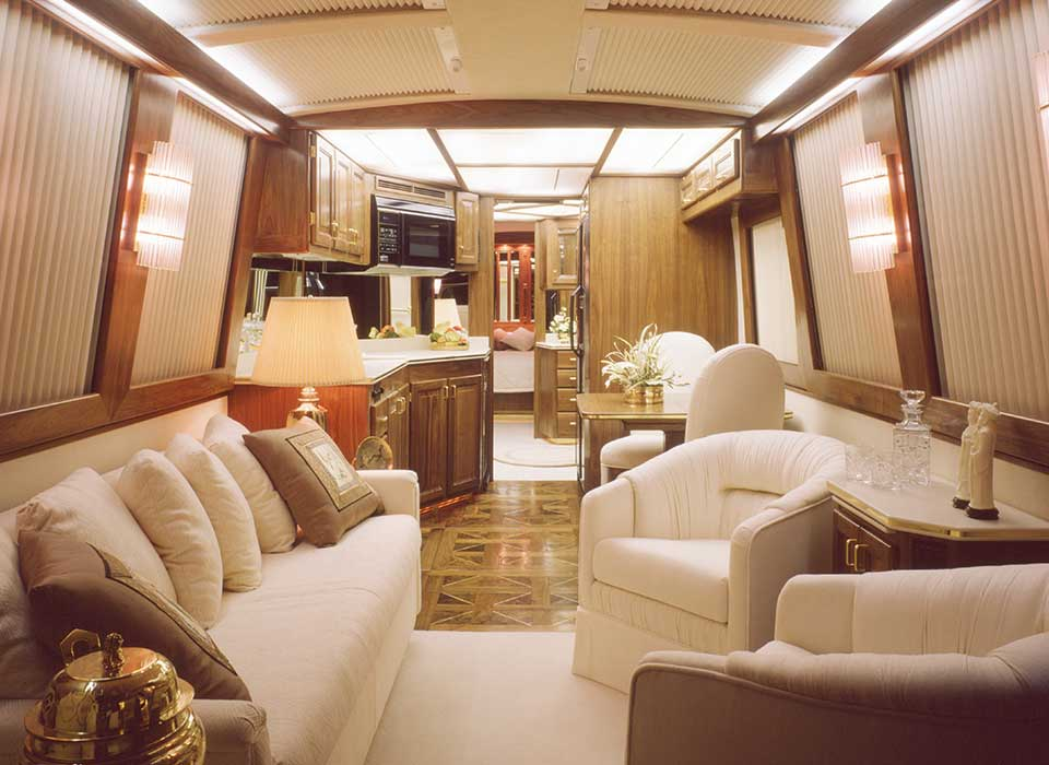 luxury motorcoach interior