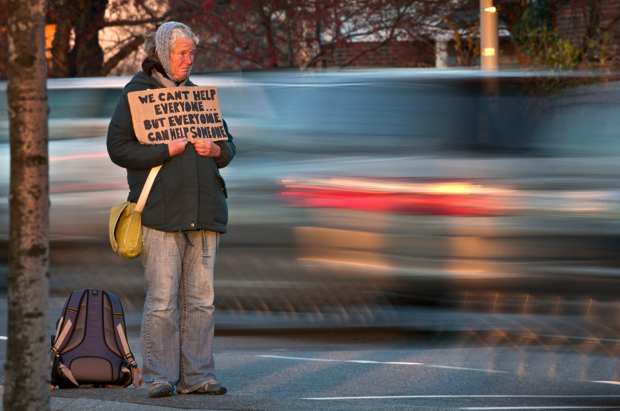 ACTION ALERT: Please write our City Council and demand they add a warning to the panhandling ban on narrow medians