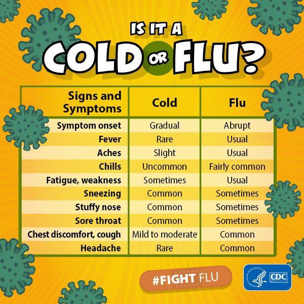 Flu Season vs Cold