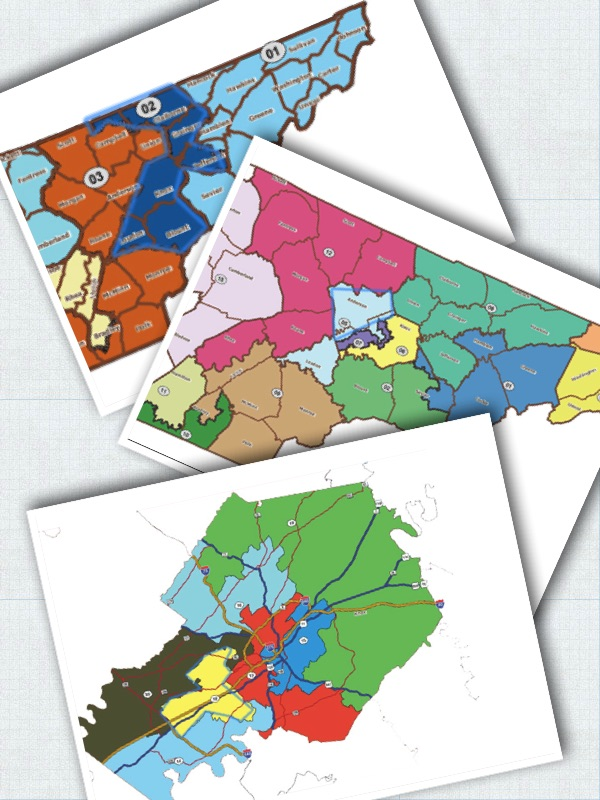 District maps illustration