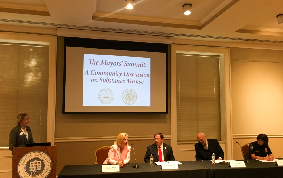 A panel of criminal justice officials discusses the opioid epidemic.