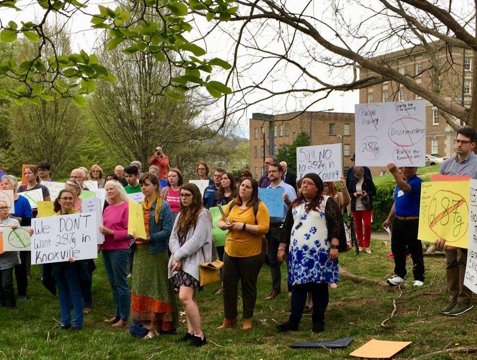 AKIN 287(g) protest 4/4/19