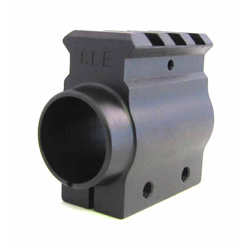 Picatiny Rail Space gun gas tap, .875 ID. Clamp On. For use with any .875 diameter barrel