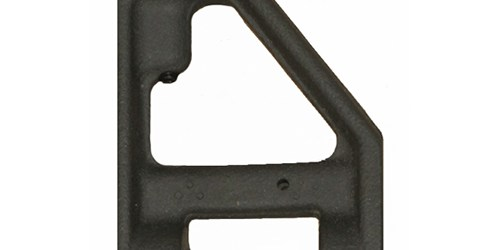 """Windage Adjustable front sight base, Post-ban configuration. There is no bayonet lug on this base. It is complete with spring, detents, and the four set screws to set the base up on your upper. It is equipped with a front sight post in your choice of .052"""", .062"""", or .072""""."""