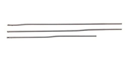 Three different gas tubes. Lengths are Service,rifle, intermediate, MID length and carbine pistol length