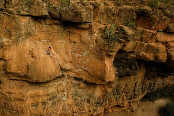 Martina Climbing