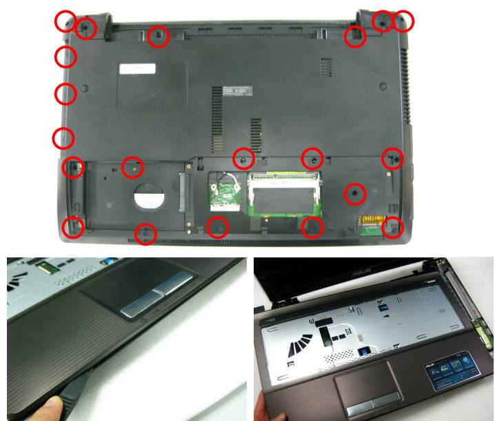 порядок разборки ноутбука
