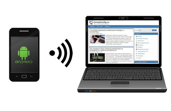 Android携帯電話を介したコンピュータへのインターネット接続