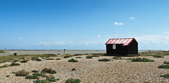 Red Roofed Hut at Rye Harbour