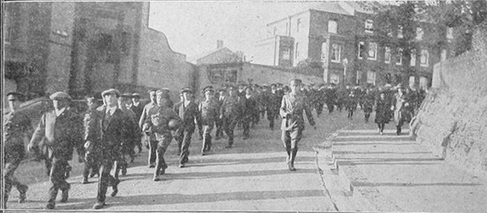 Returning to Barracks