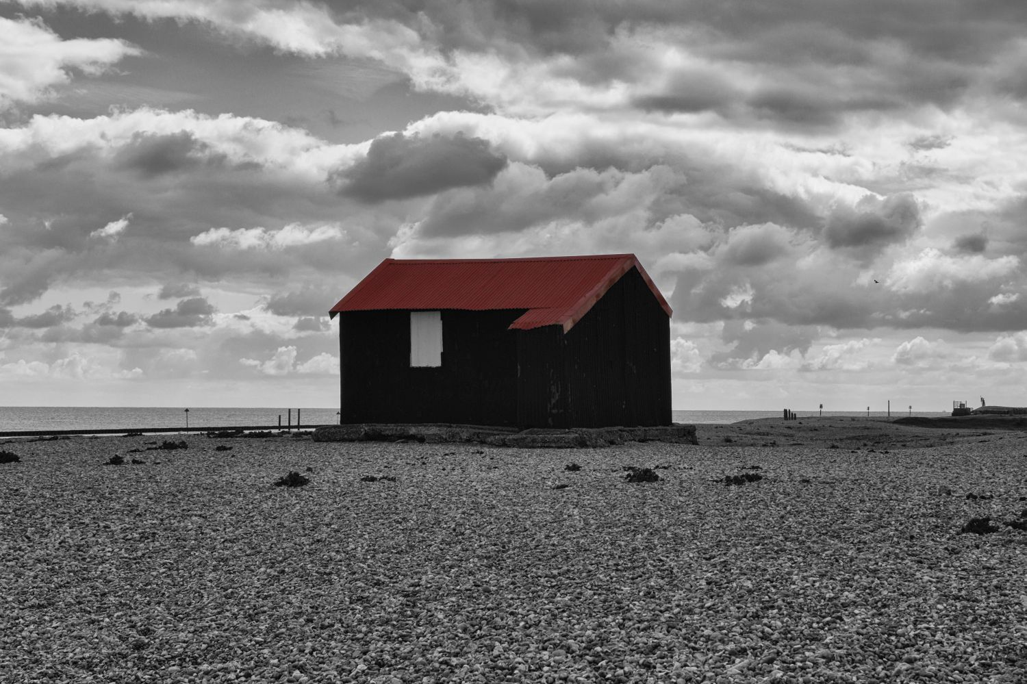 Red Roofed Hut, Rye Harbour