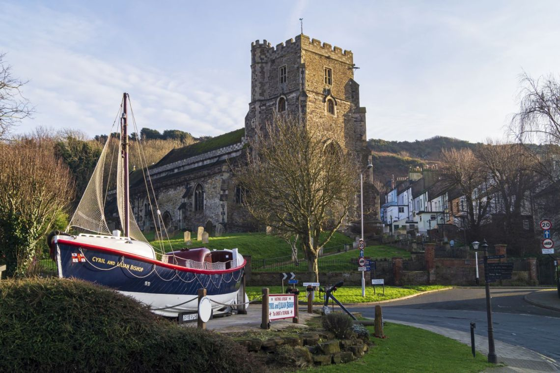 Lifeboat and All Saints Church, Hastings