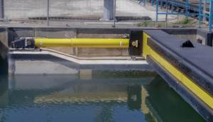 Industrial shock absorber sluice water lock