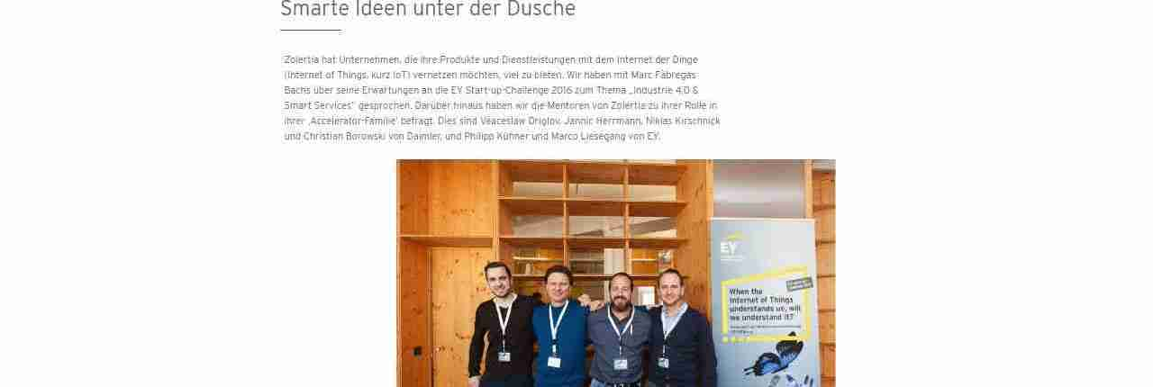 EY Start-up-Challenge | COMPETE entwickelte zweisprachige Interviews für die Landingpage