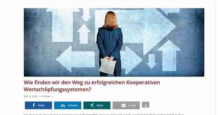 """Compete hilft futurebizz.de, mit """"Kooperative Wertschöpfungssysteme"""" auf auf Seite 1 von Google (Plätze 1-5)"""