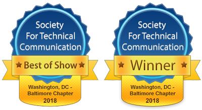 Best of Show and Winner competition award badges for 2018
