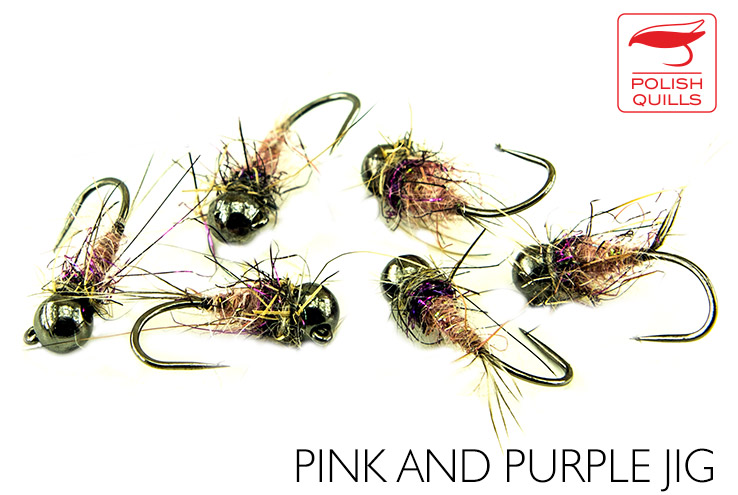 Pink & Purple Jig Nymph - Competitive Angler