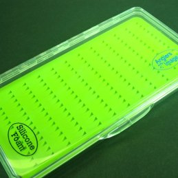 Anglers Image Large Ultra-Clear Silicone Fly Box (168 Slits)