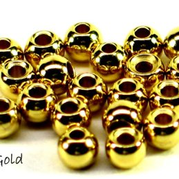 Countersunk Brass Beads (25 Pack)