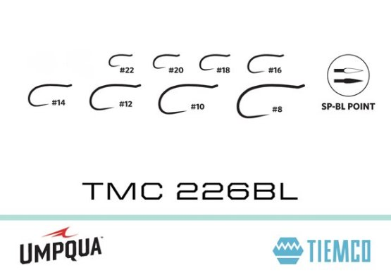 Tiemco 226BL Barbless Caddis/Midge/Emerger Hook