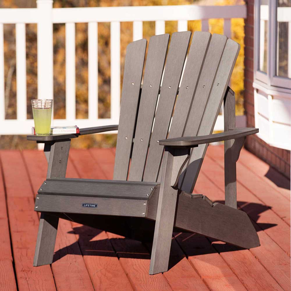 Lifetime Adirondack Chairs Lifetime 60204 Grey Adirondack Patio Furniture Polystyrene Chair