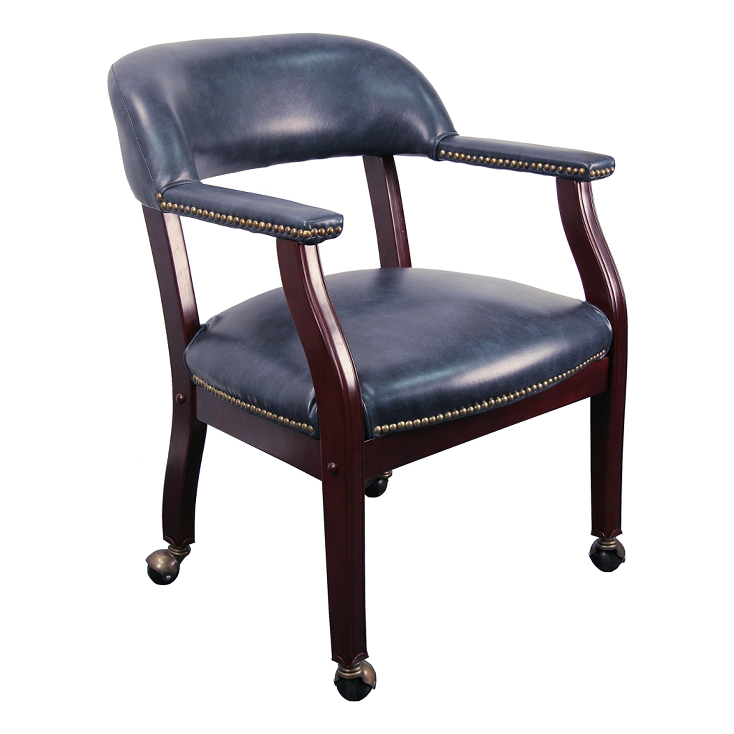 Chair Casters Conference Room Chairs B Z100 Navy Gg Navy Blue Vinyl