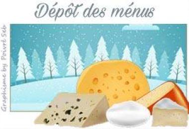 Fromage des neiges … mon cœur amoureux – Tableau Pinterest et dépôt des menus