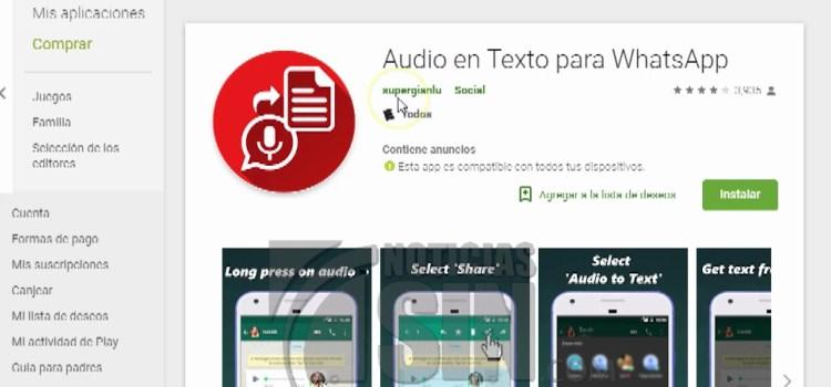 Aplicación permite transcribir notas de voz de WhatsApp