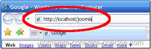 joomla-1.5.15-install-url