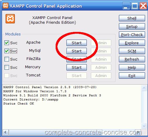 XAMPP 1.7.3 WINDOWS TÉLÉCHARGER POUR