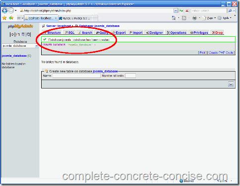 xampp-mysql-database-created