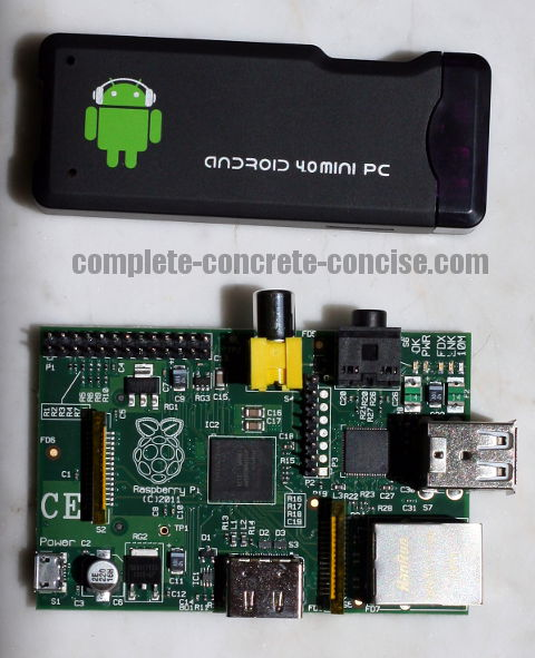 Raspberry Pi and the MK802 a Side-by-Side Comparison