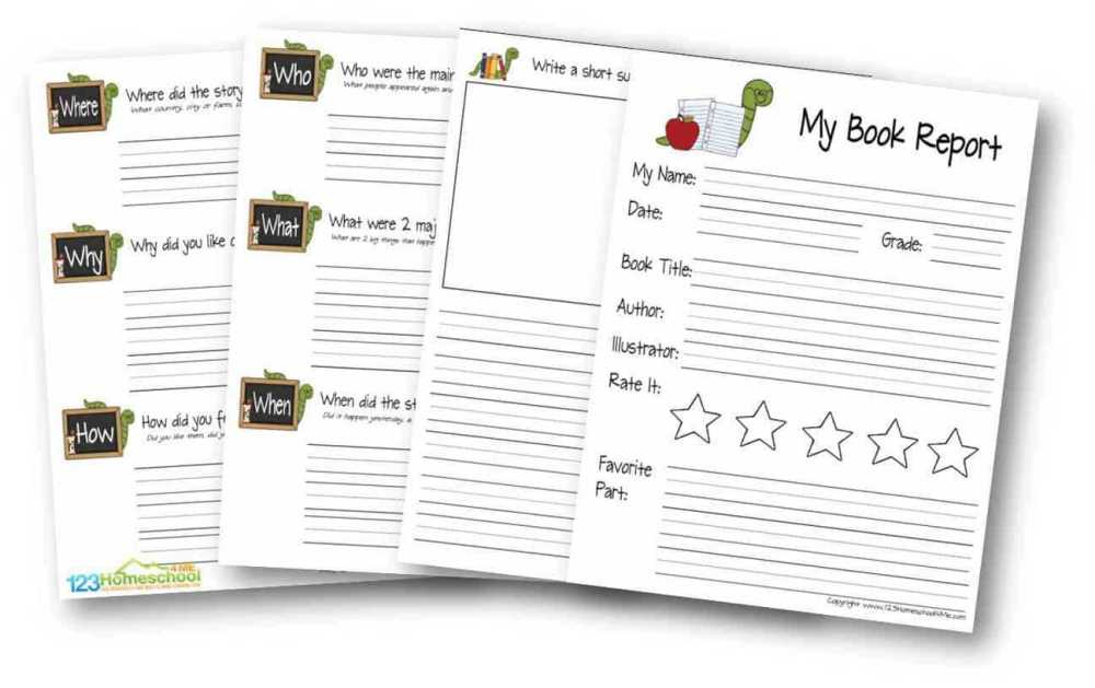 medium resolution of First Grade Book Report Template - Professional Plan Templates