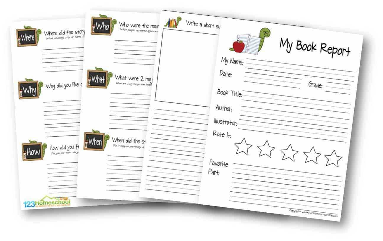 hight resolution of First Grade Book Report Template - Professional Plan Templates
