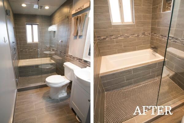 after custom bathroom remodel