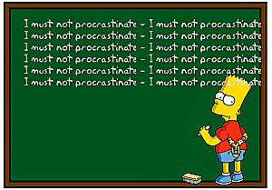 How to stop procrastinating in 5 minutes - Bart Simpson