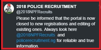 NPF NIGERIA POLICE 2018 CONSTABLE RECRUITMENT/LIST OF SHORTLISTED CANDIDATES AS POLICE CONSTABLE 2018