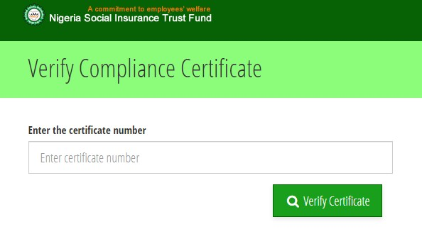 Verification of NSITF Compliance Certificate: This is how
