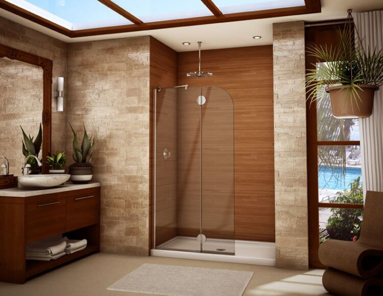 Wood Shower Door