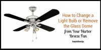 How to Change a Light Bulb or Remove the Glass Dome from ...
