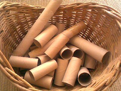 cardboard toilet rolls