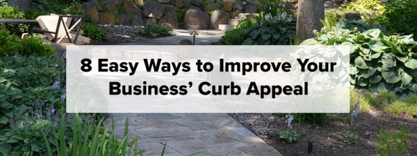 improve curb appeal - commercial