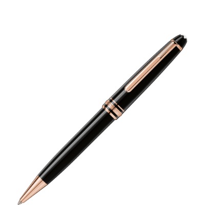 montblanc red gold coated pen