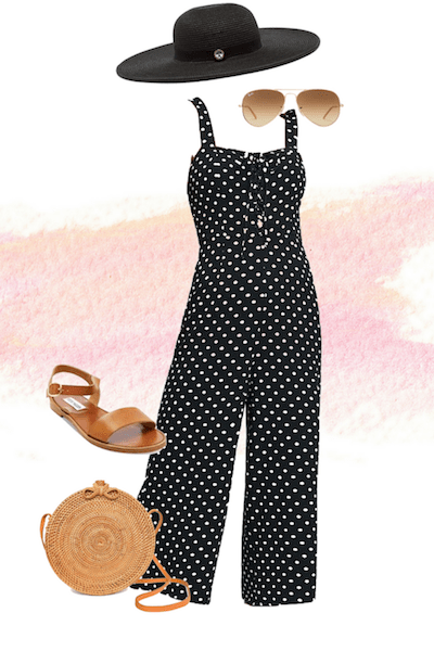 polka-dot-trend-jumpsuit-straw-bag-outfit-summer