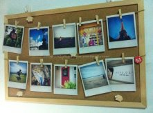 My travel photos board